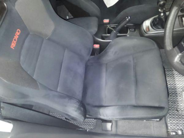 2004 Mitsubishi Lancer EVO 8 MR seat closeup