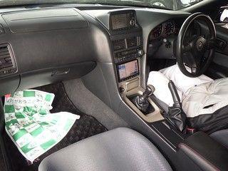 1999 Nissan Skyline R34 GT-R VSpec black auction interior