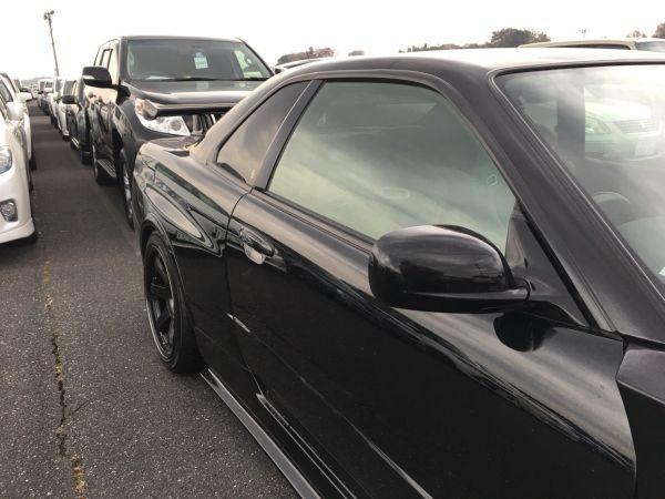 1999 Nissan Skyline R34 GT-R VSpec black left side