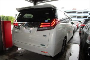 2015 Toyota Alphard Hybrid G Package 4WD 2.5L right rear