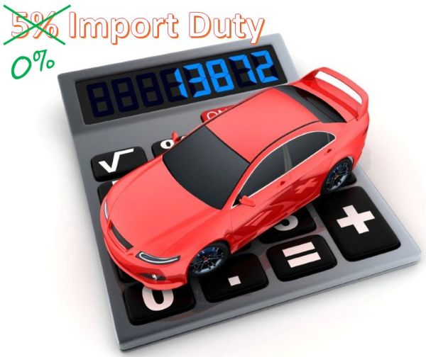 5% import duty removed