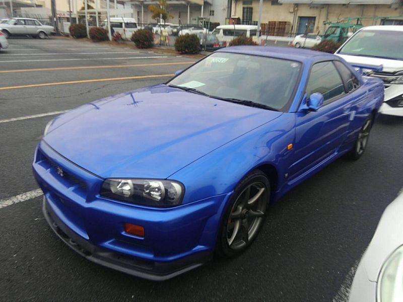 1999 Nissan Skyline R34 GT-R VSpec TV2 Bayside Blue left front