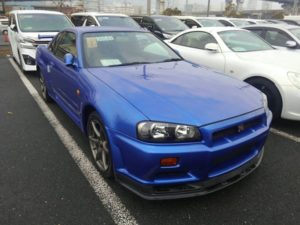 1999 Nissan Skyline R34 GT-R VSpec TV2 Bayside Blue right front