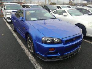 1999 Nissan Skyline R34 GT-R VSpec TV2 Bayside Blue right front