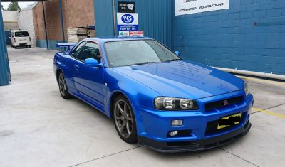 1999 Nissan Skyline R34 GT-R VSpec blue