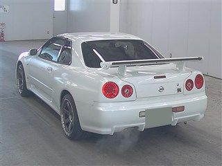 2001 Nissan Skyline R34 GT-R auction rear