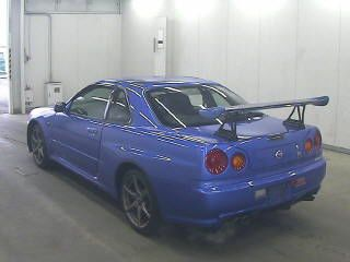 2002 Nissan Skyline R34 GT-R VSpec 2 auction rear