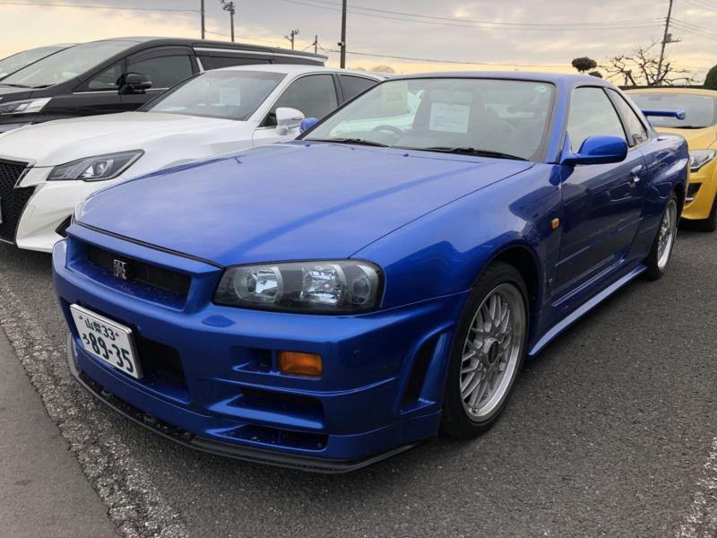 1999 Nissan Skyline R34 GTR VSpec Bayside Blue left front