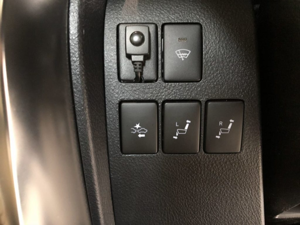 2017 Toyota Alphard Hybrid Executive Lounge power seat switches