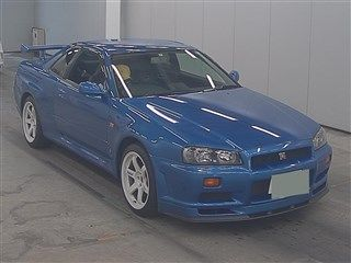 2000 Nissan Skyline R34 GTR VSpec Bayside Blue auction front