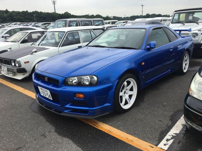 2000 Nissan Skyline R34 GTR VSpec Bayside Blue left front