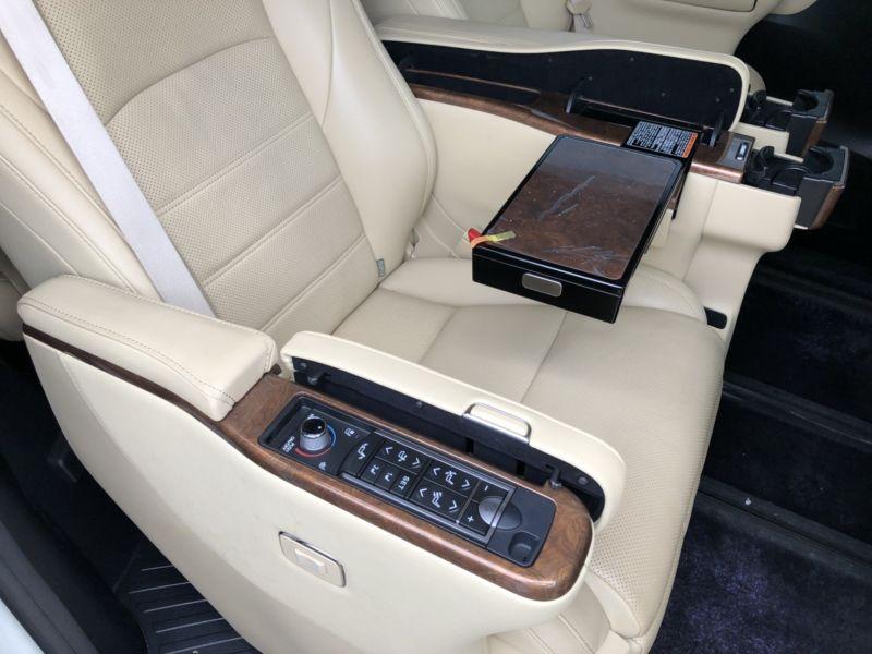 2015 Toyota Alphard Hybrid Executive Lounge rear tray table