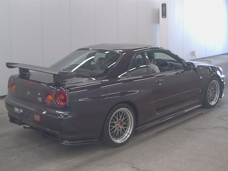 1999 R34 GTR VSpec Midnight Purple II LV4 auction right rear