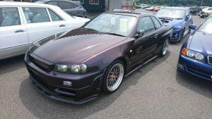 1999 R34 GTR VSpec Midnight Purple II LV4 left front
