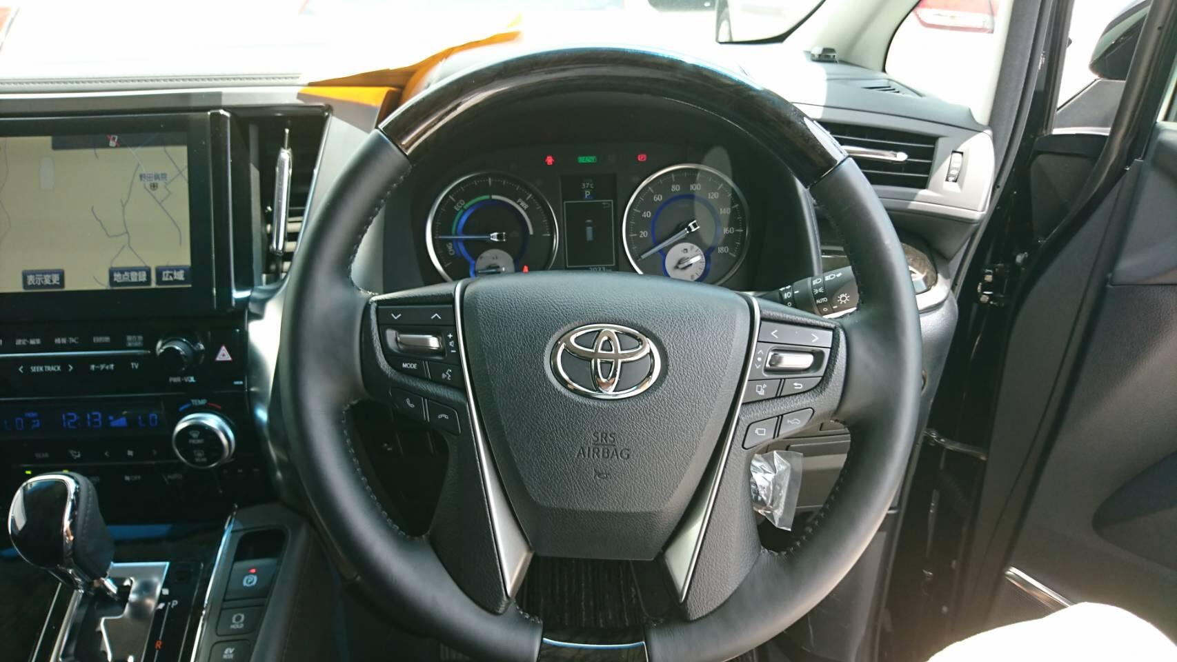 2017 Toyota Alphard Hybrid SR C Package steering wheel 2