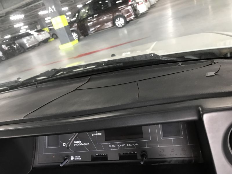 1985 Toyota Corolla Levin GT APEX dash crack