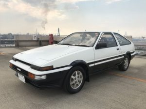 1986 TOYOTA SPRINTER GT APEX left front