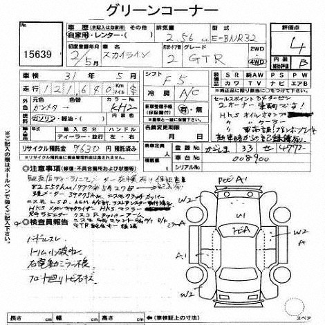 1990 Nissan Skyline R32 GTR auction auction report