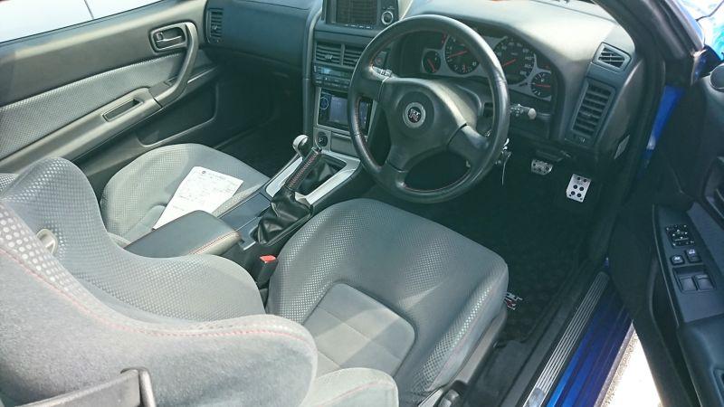 1999 Nissan Skyline R34 GTR VSpec blue interior