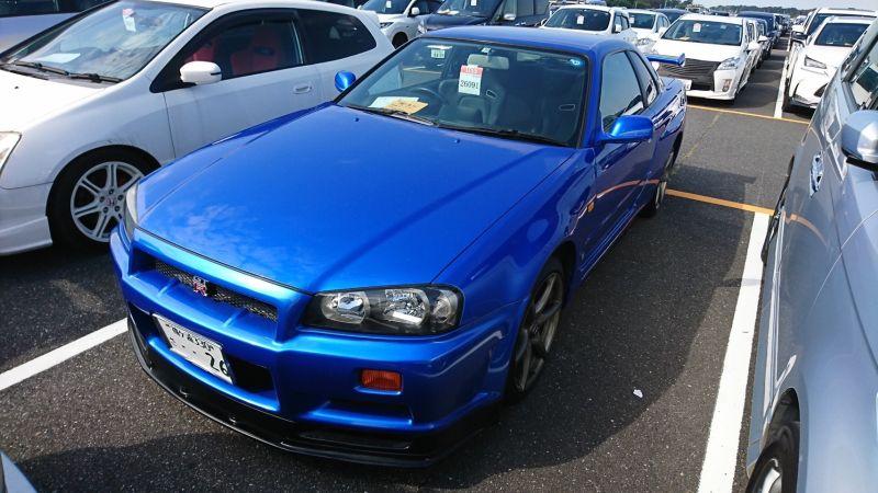 1999 Nissan Skyline R34 GTR VSpec blue left front