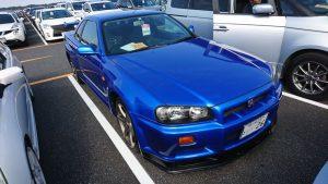 1999 Nissan Skyline R34 GTR VSpec blue right front