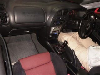 2000 Mitsubishi Lancer EVO 6 TME red auction interior