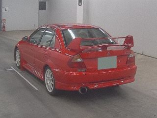 2000 Mitsubishi Lancer EVO 6 TME red auction rear