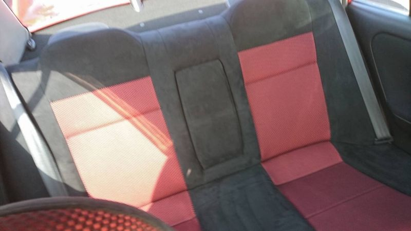 2000 Mitsubishi Lancer EVO 6 TME red rear seat