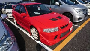 2000 Mitsubishi Lancer EVO 6 TME red right front