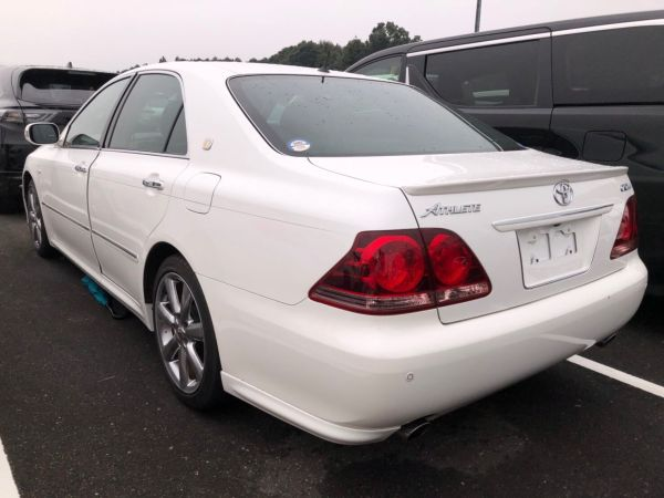 2007 Toyota Crown Athlete Premium Edition sedan left rear