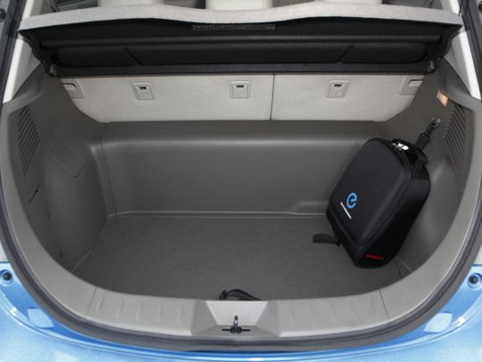 Nissan Leaf import boot space