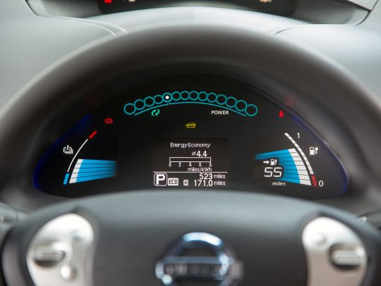 Nissan Leaf import gauges