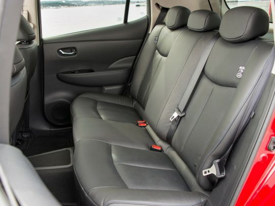 Nissan Leaf import red rear seat
