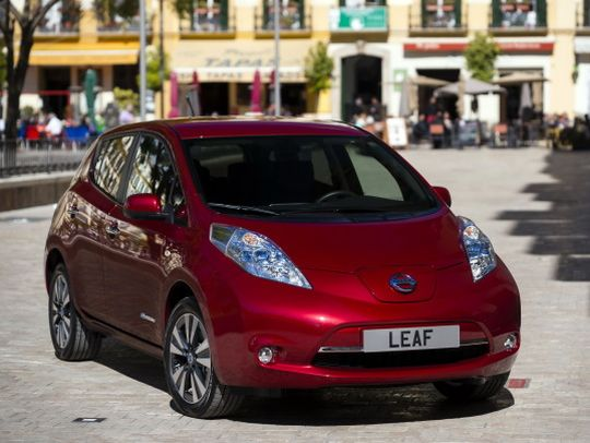 Nissan Leaf import red right front