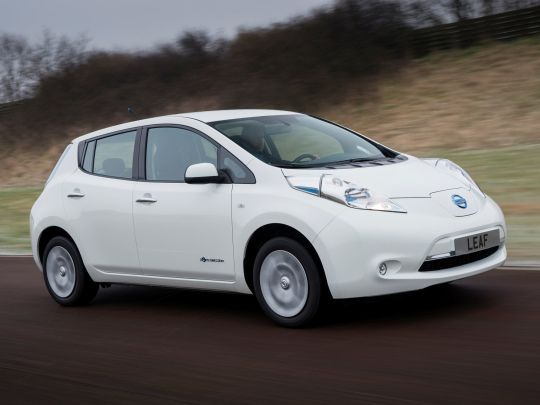 Nissan Leaf import right white