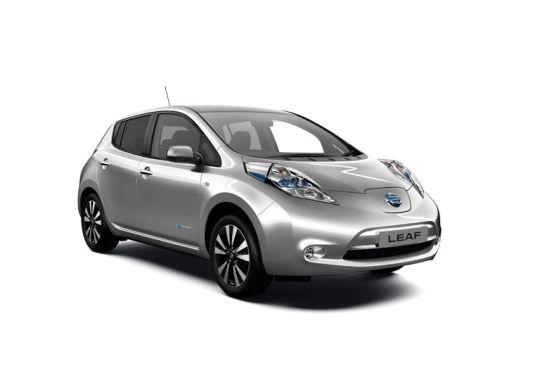 Nissan Leaf import silver