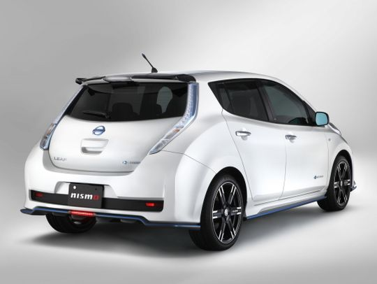 Nissan Leaf import white rear