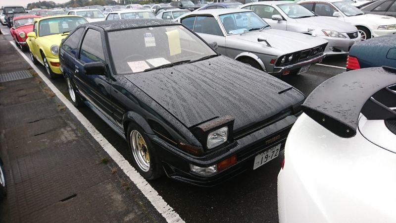 1986 Toyota Sprinter BLACK LTD right front