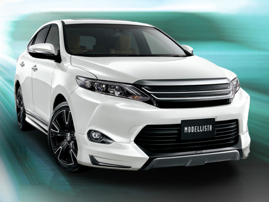 Modellista Toyota Harrier 2013–17 white