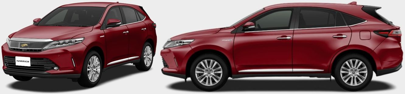 Toyota Harrier hybrid colour Dark Red Mica Metallic (3Q3)