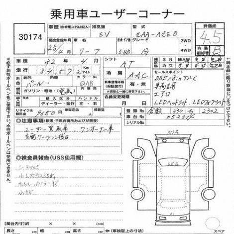 2013 Nissan Leaf G auction report