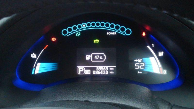 2014 Nissan Leaf X 24kW console