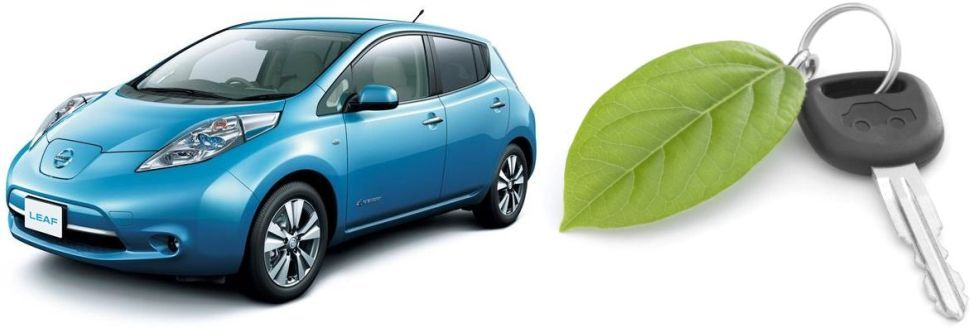 Nissan Leaf and key