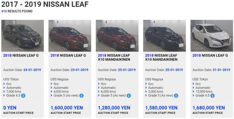 Import Nissan Leaf Gen 2 to Australia price