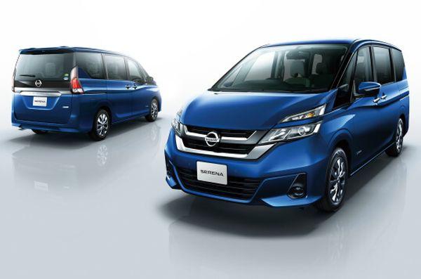 Nissan Serena Hybrid blue