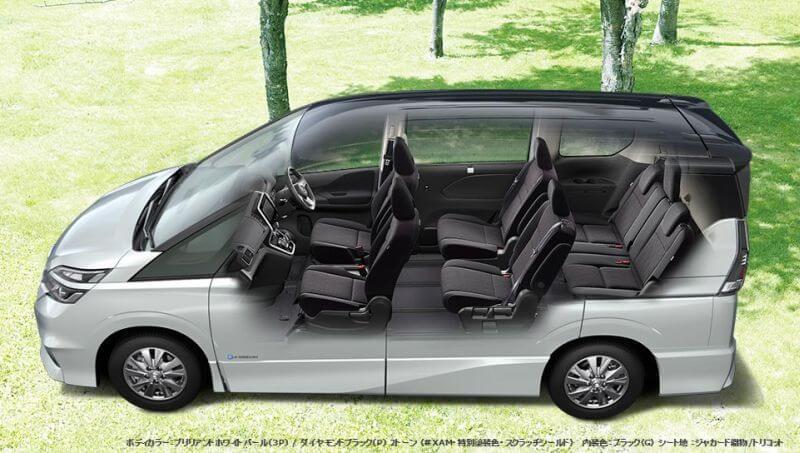 Nissan Serena hybrid cutaway
