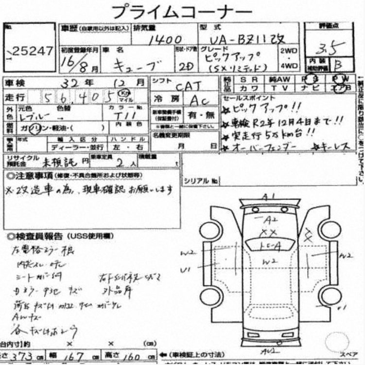 Cube ute auction report